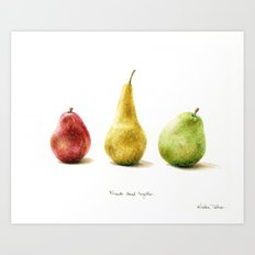 Pears - Friends stand together Art Print