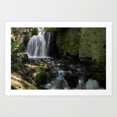 Waterfall at Lumsdale II Art Print
