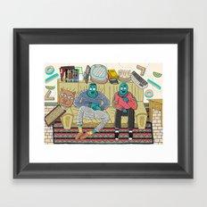 Studio Session Framed Art Print