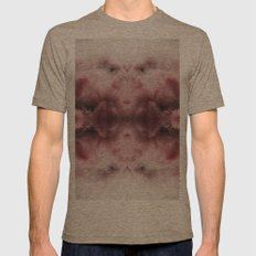 Cloudy Aspirations Mens Fitted Tee Tri-Coffee SMALL