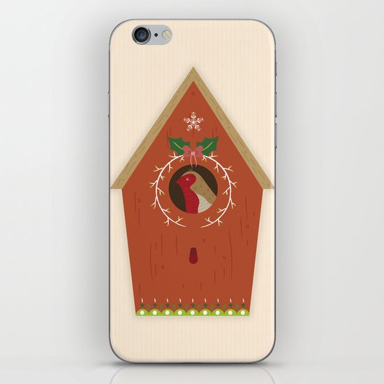 Red Bird House iPhone & iPod Skin