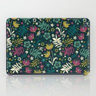 Midnight Florals (pop) iPad Case