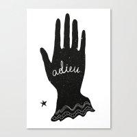 ADIEU Canvas Print