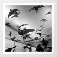 winged flight Art Print
