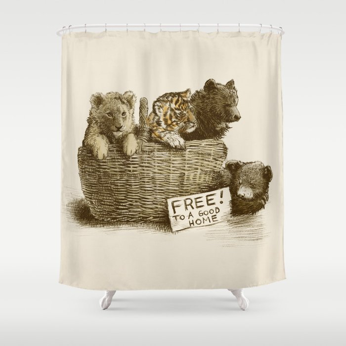 Lions And Tigers And Bears Shower Curtain By Eric Fan Society6