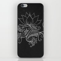 white on black iPhone & iPod Skin