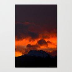 Fire Red Sunrise Canvas Print