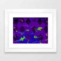 Argyle Frenzy in Amethyst Framed Art Print