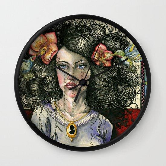 She Had Hummingbirds in Her Hair Wall Clock