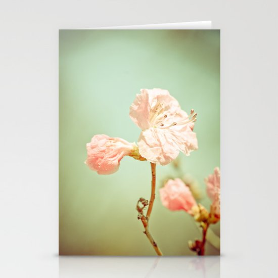 Aprils' Pink blossom Stationery Card