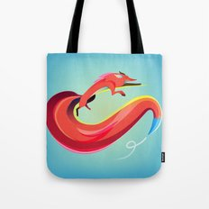 Fox painting the skyline Tote Bag