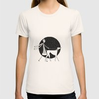 walking in a winter wonderland Womens Fitted Tee Natural SMALL