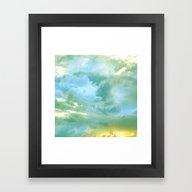 Solo Flight: Aqua Variat… Framed Art Print