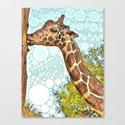 Giraffe Kiss Canvas Print