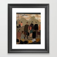 Frequent Travelers Framed Art Print