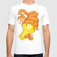 Snake Cone Mens Fitted Tee White SMALL