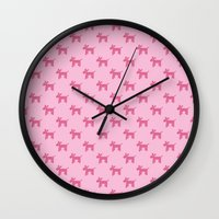 Dogs-Pink Wall Clock