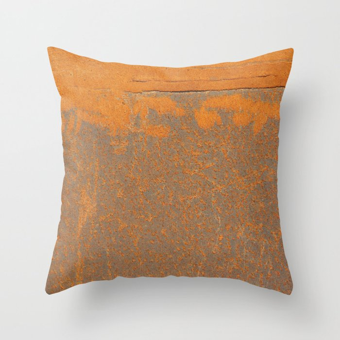 Throw Pillow Rust : Iron and Rust Throw Pillow by Patterns And Textures Society6
