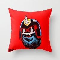 Yeticorn Comic Heroes series: Judge Dredd!  Throw Pillow