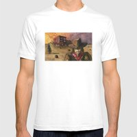 Sunset Showdown Mens Fitted Tee White SMALL