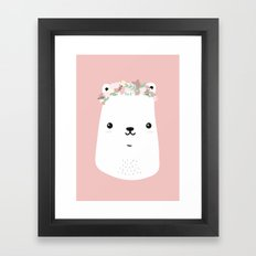 Flower bear Framed Art Print