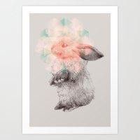 Techno-bunny Art Print