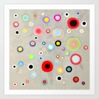 Abstract Happy Circles Art Print