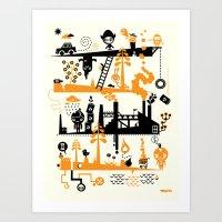 Us & Them Art Print
