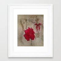 Poppy and Ribs Framed Art Print