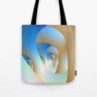 Blue Labyrinth Tote Bag