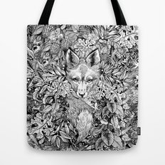 hidden fox Tote Bag