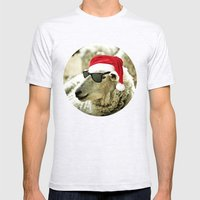 Tis The Season - Sheep Mens Fitted Tee Ash Grey SMALL