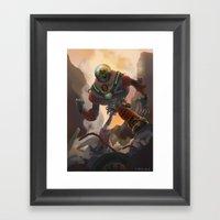 SkullBorg Framed Art Print