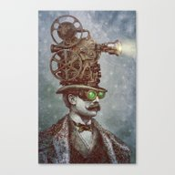 Canvas Print featuring The Projectionist (colou… by Eric Fan