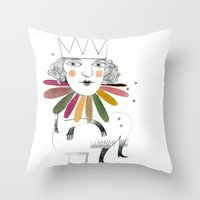 queen margherita Throw Pillow