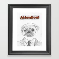 ATTENTION! Framed Art Print