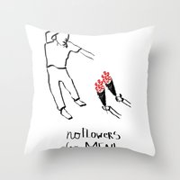 Flower men Throw Pillow
