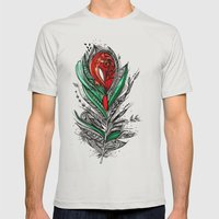 Flower Lover Mens Fitted Tee Silver SMALL