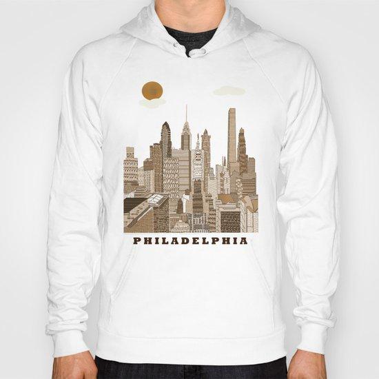 Philadelphia skyline vintage Hoody