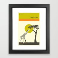 Framed Art Print featuring VISIT TANZANIA  by Jazzberry Blue