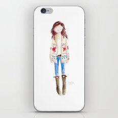 FAIR ISLE & HUNTER BOOTS iPhone & iPod Skin