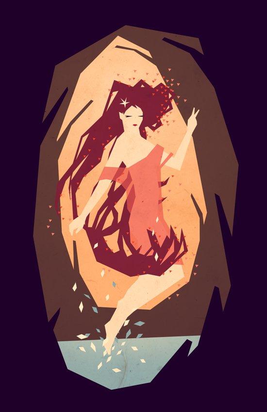 goddess of the woods Art Print