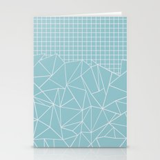 Ab Outline Grid Salty Stationery Cards