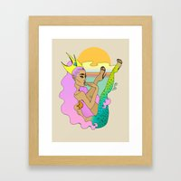 Jetsam Framed Art Print