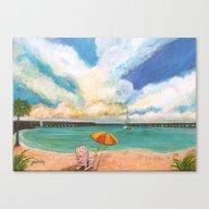 Seven Mile Bridge Canvas Print