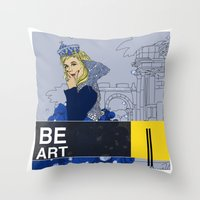 BE  ART Throw Pillow
