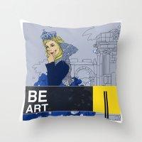 BE  ART Throw Pillow