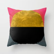 Abstract Sunset Throw Pillow