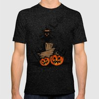 Halloween Owl Mens Fitted Tee Tri-Black SMALL