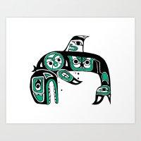 Native American Orca Art Print